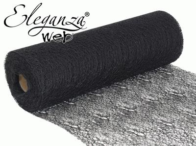 Eleganza Web Fabric roll 28cm x 10m Black No.20 - Organza / Fabric