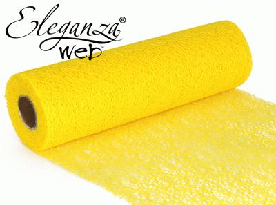 Eleganza Web Fabric roll 28cm x 10m Yellow No.11 - Organza / Fabric