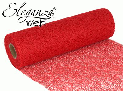 Eleganza Web Fabric roll 28cm x 10m Red No.16 - Organza / Fabric