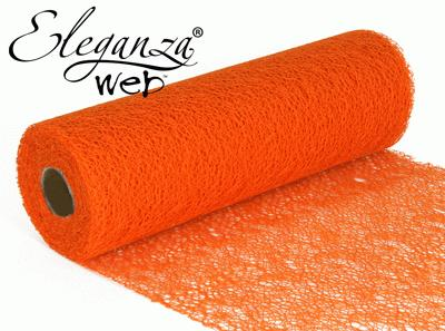 Eleganza Web Fabric roll 28cm x 10m Orange No.04 - Organza / Fabric