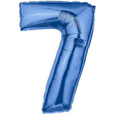 No 7 Blue - Foil Balloons
