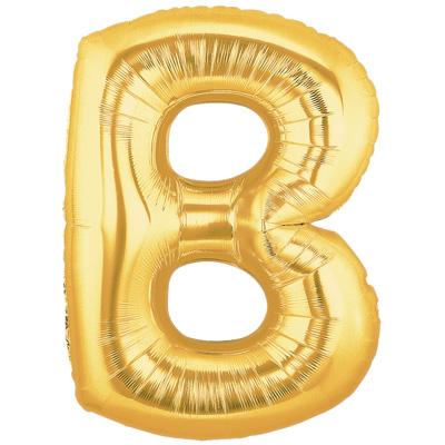 Letter B Gold - Foil Balloons