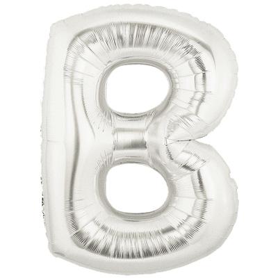 Letter B Silver - Foil Balloons