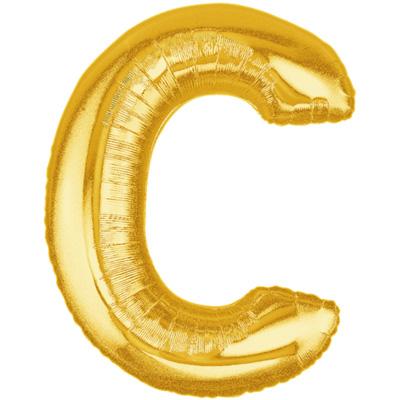 Letter C Gold - Foil Balloons