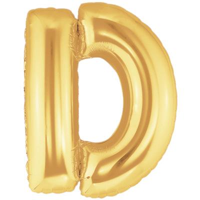 Letter D Gold - Foil Balloons