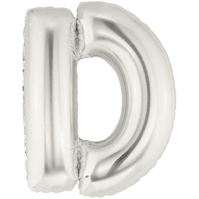 Letter D Silver - Foil Balloons