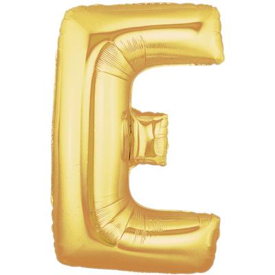 Letter E Gold - Foil Balloons
