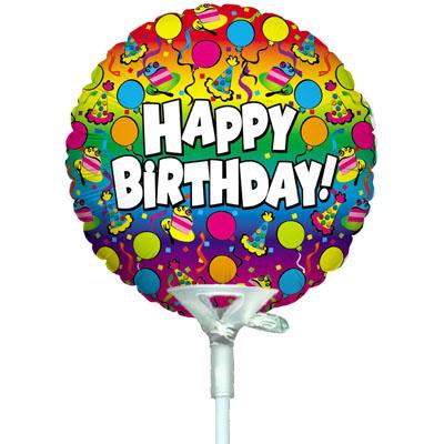 4inch Birthday Rainbow - Foil Balloons