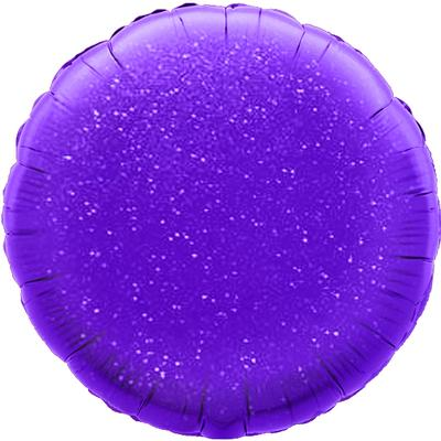Oaktree 18inch Purple Holographic Round (Flat) - Foil Balloons