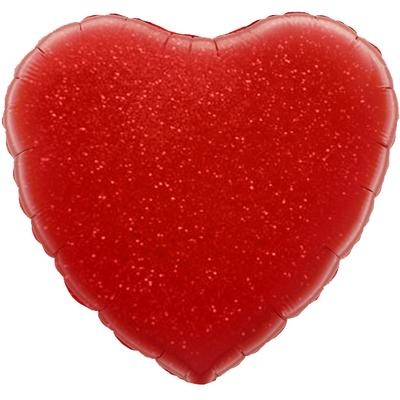 Oaktree 18inch Red Holographic Heart (Flat) - Foil Balloons