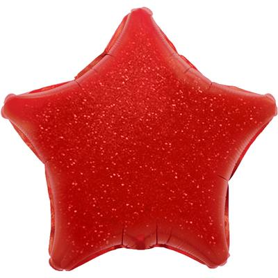 Oaktree 19inch Red Holographic Star (Flat) - Foil Balloons