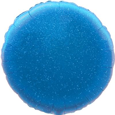 Oaktree 18inch Blue Holographic Round (Flat) - Foil Balloons