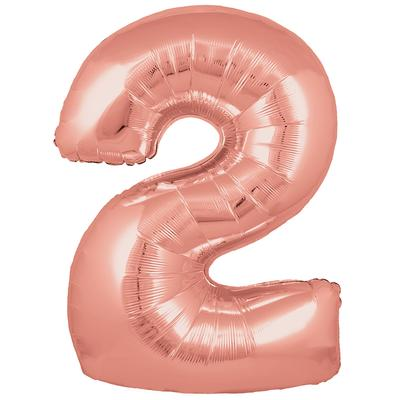 Oaktree 30inch Number 2 Rose Gold - Foil Balloons