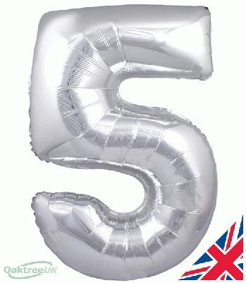 Oaktree Silver 5 - Foil Balloons