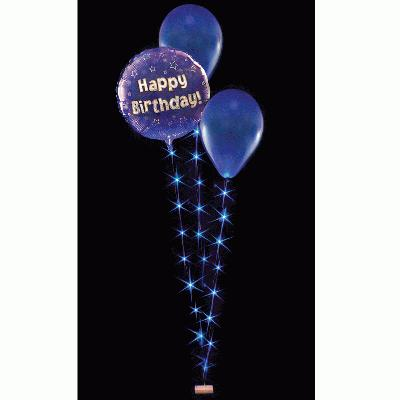BalloonLite Triple Set Blue - L.E.D Lights