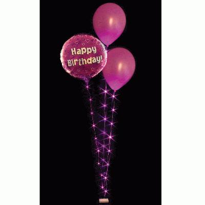 BalloonLite Triple Set Fuchsia - L.E.D Lights