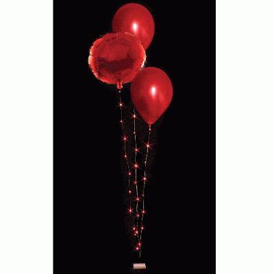 BalloonLite Triple Set Red - L.E.D Lights