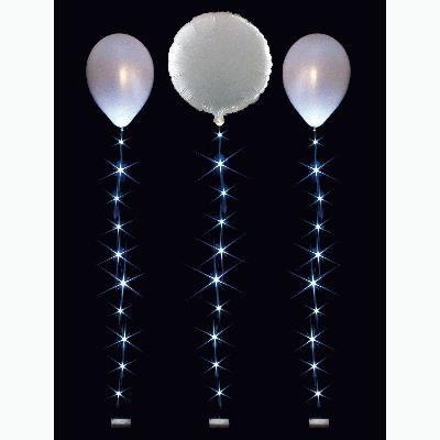 BalloonLite 10 Set White - L.E.D Lights