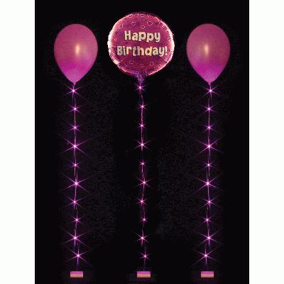 BalloonLite 10 Set Fuchsia - L.E.D Lights