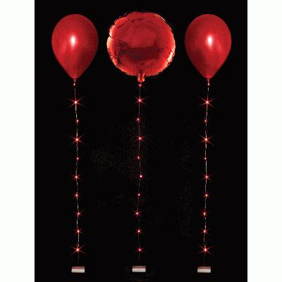 BalloonLite 10 Set Red - L.E.D Lights