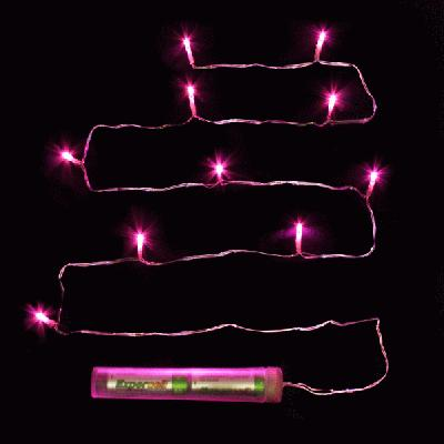 Décor Lites Submersible 10 Light Set Fuchsia - L.E.D Lights