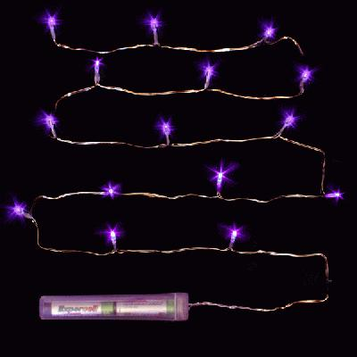 Décor Lites Submersible 15 Light Set Purple - L.E.D Lights