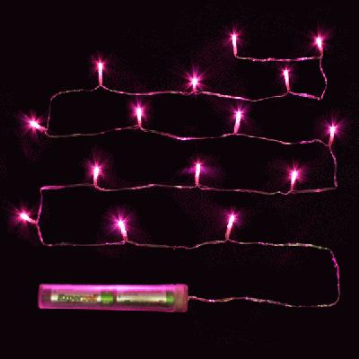 Décor Lites Submersible 15 Light Set Fuchsia - L.E.D Lights