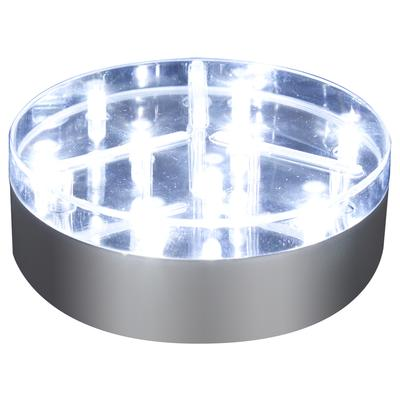 "4"" Silver BaseLite™ 9 Super Bright LED White - L.E.D Lights"