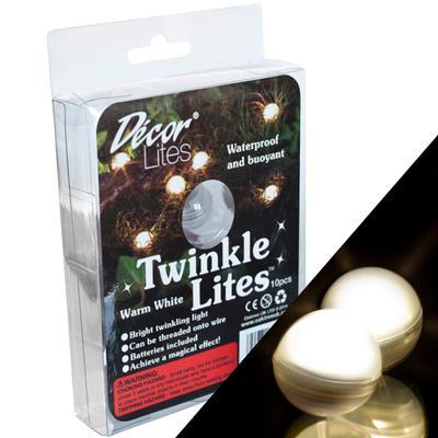 DécorLites 20mm TwinkleLites Warm White Pack/10pcs - L.E.D Lights