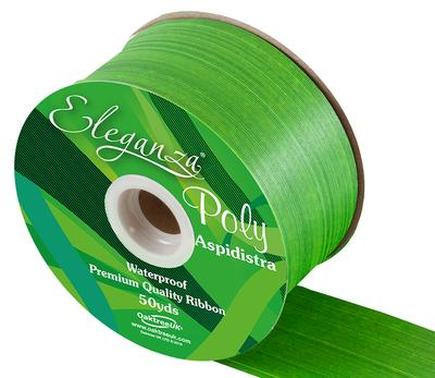 Eleganza Poly Ribbon Aspidistra 50mm x 50yds Daffodil - Ribbons