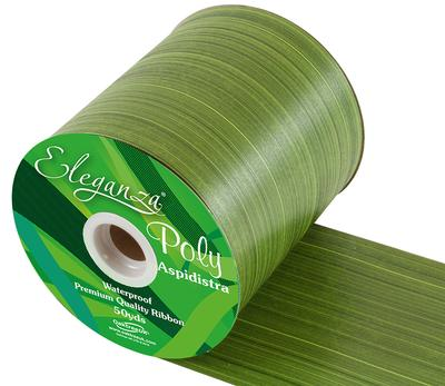 Eleganza Poly Ribbon Aspidistra 100mm x 50yds Spring Green - Ribbons