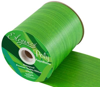 Eleganza Poly Ribbon Aspidistra 100mm x 50yds Daffodil - Ribbons