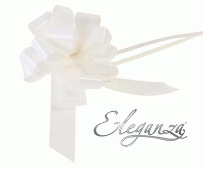 Eleganza Poly Pull Bows 30mm x 30pcs White No.01 - Pullbows