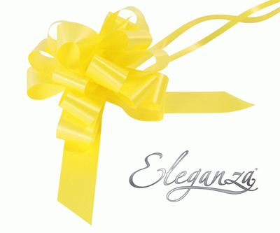 Eleganza Poly Pull Bows 30mm x 30pcs Yellow No.11 - Pullbows