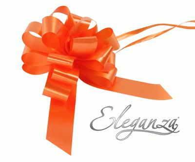 Eleganza Poly Pull Bows 30mm x 30pcs Orange No.04 - Pullbows