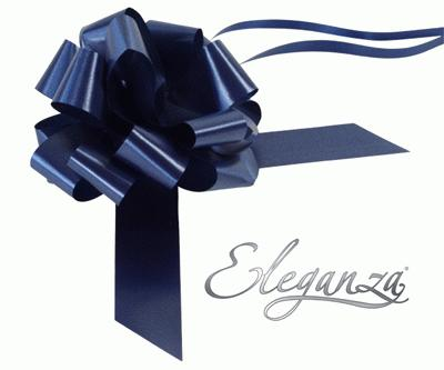 Eleganza Poly Pull Bows 30mm x 30pcs Navy Blue No.19 - Pullbows