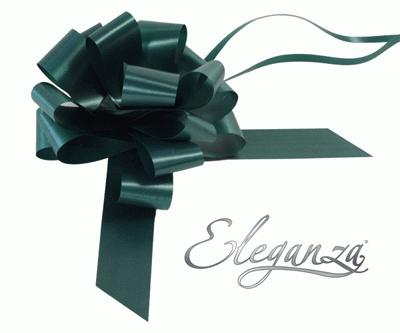 Eleganza Poly Pull Bows 30mm x 30pcs Green No.50 - Pullbows
