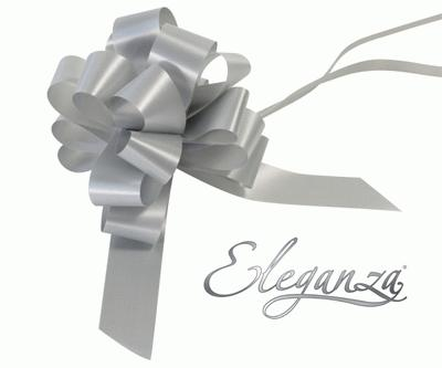 Eleganza Poly Pull Bows 30mm x 30pcs Silver No.24 - Pullbows