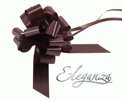 Eleganza Poly Pull Bows 30mm x 30pcs Chocolate No.58 - Pullbows