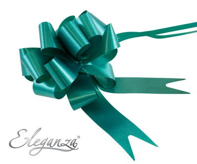 Eleganza Poly Pull Bows 30mm x 30pcs Emerald Green No.15 - Pullbows