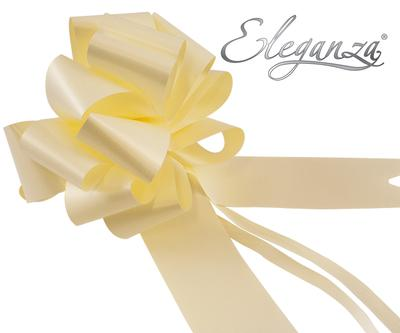 Eleganza Poly Pull Bows 50mm x 20pcs Cream No.62 - Pullbows