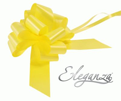 Eleganza Poly Pull Bows 50mm x 20pcs Yellow No.11 - Pullbows