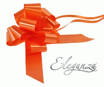 Eleganza Poly Pull Bows 50mm x 20pcs Orange No.04 - Pullbows