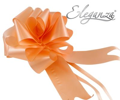 Eleganza Poly Pull Bows 50mm x 20pcs Peach No.05 - Pullbows