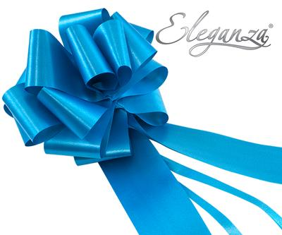 Eleganza Poly Pull Bows 50mm x 20pcs Turquoise No.55 - Pullbows