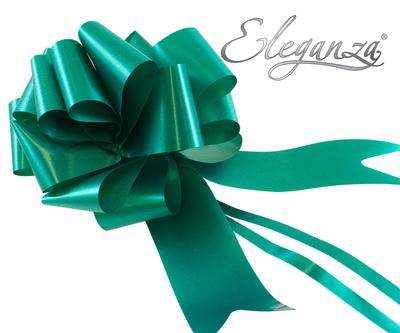 Eleganza Poly Pull Bows 50mm x 20pcs Emerald Green No.15 - Pullbows
