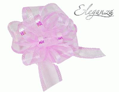 Organza Pull Bows 50mm x10pcs Lt.Pink No.21 - Pullbows