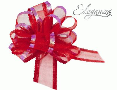 Organza Pull Bows 50mm x10pcs Red No.16 - Pullbows