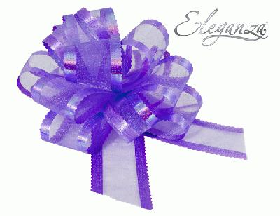 Organza Pull Bows 50mm x10pcs Lavender No.45 - Pullbows
