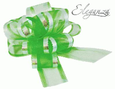 Organza Pull Bows 50mm x10pcs Green No.50 - Pullbows